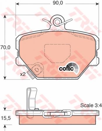 Колодки дисковые Передние, TRW, GDB1365
