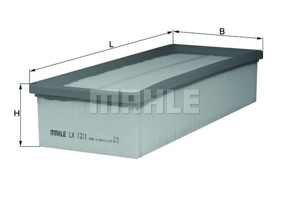 Фильтр воздушный, MAHLE ORIGINAL, LX1211