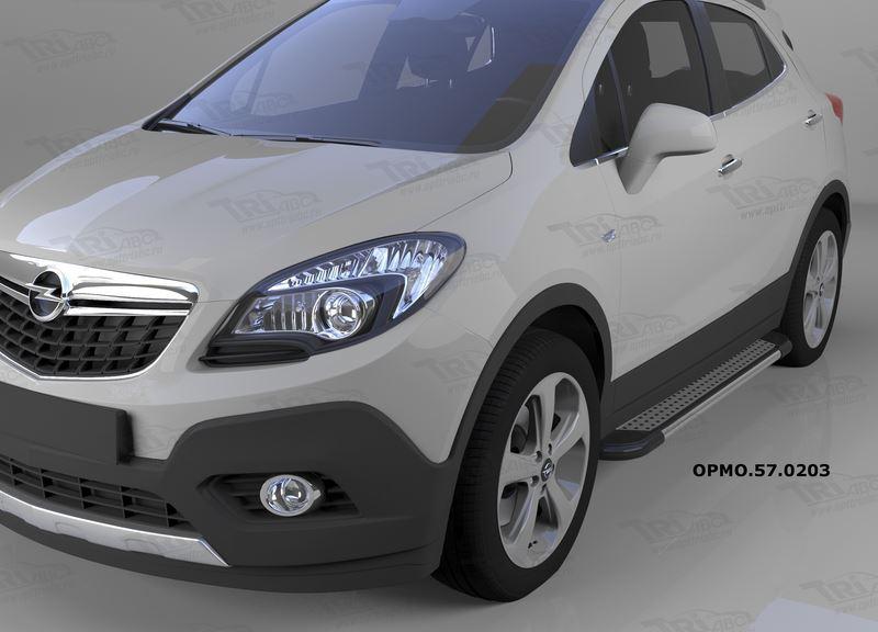 Пороги алюминиевые (Topaz) Opel Mokka (2012-), OPMO570203