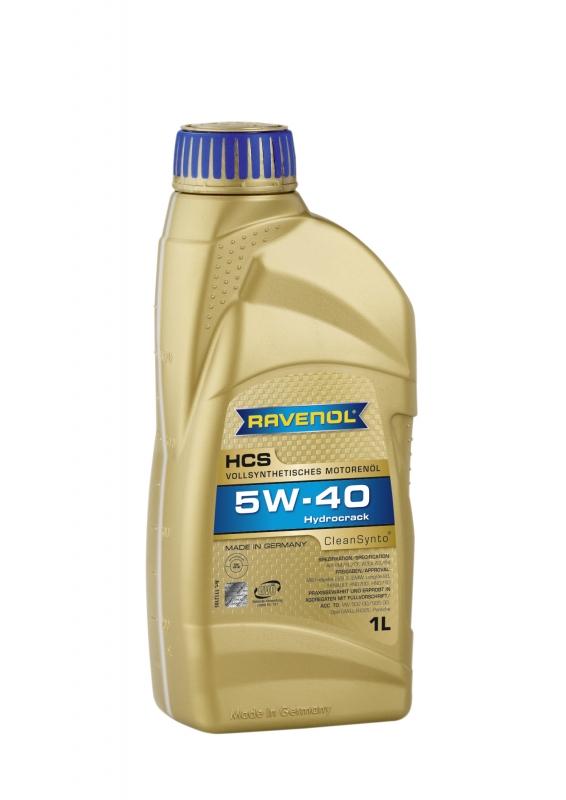 Моторное масло RAVENOL HCS Hydrocrack Synth, 5W-40, 1л, 4014835723917