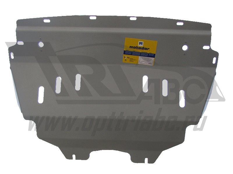 Защита картера двигателя, КПП, радиатора Infiniti FX35 2006-2009 V=3,5, 4,5 ,из 3-х частей (алюминий