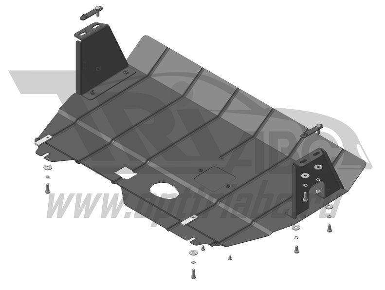 Защита картера двигателя, КПП Ford Tourneo Custom; передний; V=2,2; 2013- / Transit, передний; V=2,2