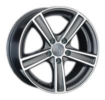 Колесный диск Ls Replica VV120 7x17/5x112 D66.6 ET43 серый глянец, полированнные спицы и обод (GMF)