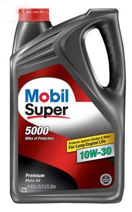 Моторное масло Mobil SUPER 5000, 10W-30, 4.83л