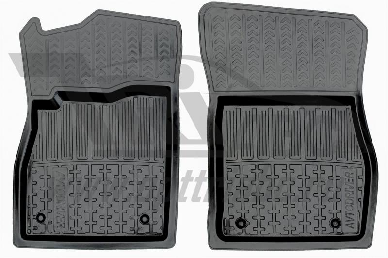 Коврики салона резиновые с бортиком для Chevrolet Cruze (2009-) (2 передних), ADRPRO0062