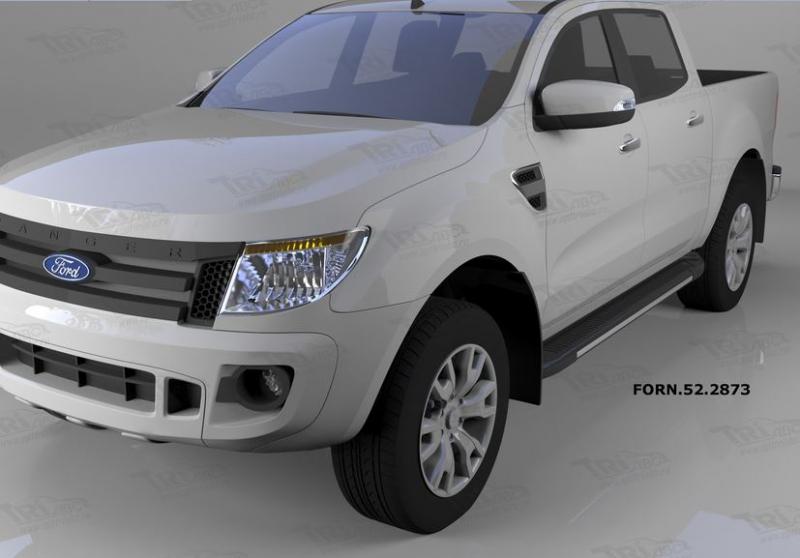 Пороги алюминиевые (Onyx) Ford Ranger (2012-), FORN522873