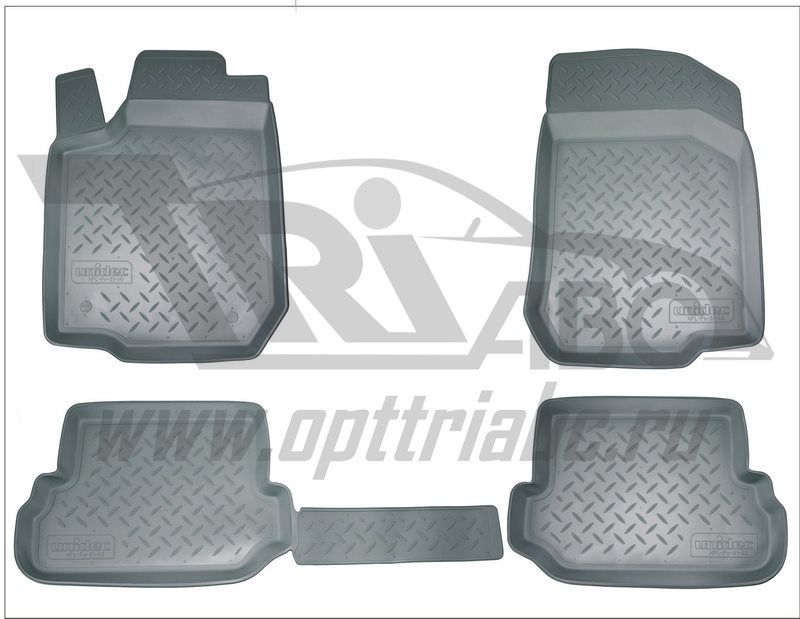 Коврики салона для Nissan Sentra (B17) (2014-) /Tiida (C12) (2011-) Серый, NPA11C61630GREY