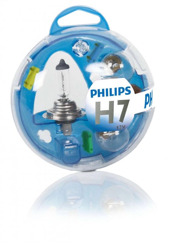 Лампа, 12 В, 55 Вт, H7, PX26d, PHILIPS, 55719EBKM