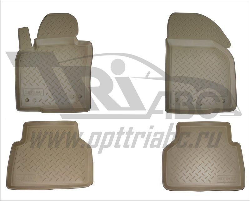 Коврики салона для Ford Transit Tourneo Custom (2013-) (короткая база) (пер) Бежевый, NPA01C22750BEI