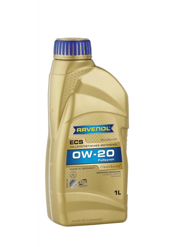 Моторное масло RAVENOL ECS EcoSynth, 0W-20, 1л, 4014835718517