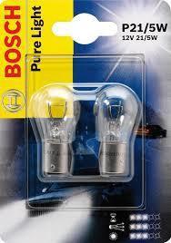 Лампа Pure Light, 12 В, 21/5 Вт, P21/5W, BAY15d, BOSCH, 1 987 301 016