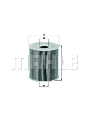 Фильтр масляный, MAHLE ORIGINAL, OX156D