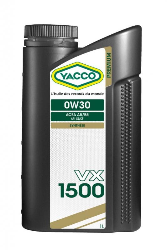 Масло моторное YACCO VX 1500 синт. 0W30 ,SL/CF (1 л)