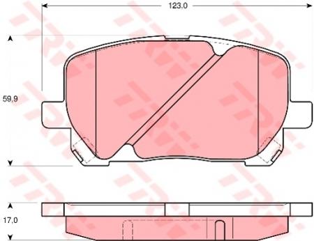 Колодки дисковые Передние, TRW, GDB3315