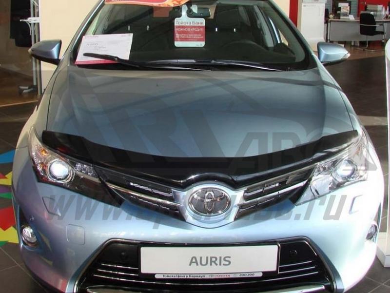 Дефлектор капота Toyota Auris II (2012-) (темный), STOAUR1212