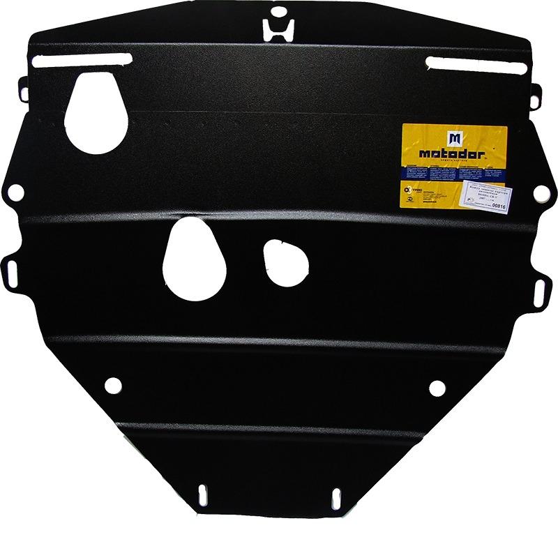Защита картера двигателя, КПП Honda CR-V III 2007-2012 V= все (сталь 2 мм), MOTODOR00816
