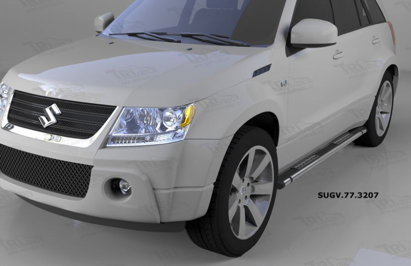 Пороги алюминиевые (Emerald Black) Suzuki Grand Vitara (2006-2010-), SUGV773207