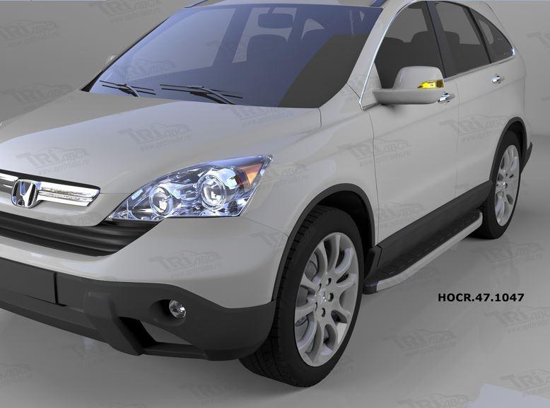Пороги алюминиевые (Alyans) Honda (Хонда) CR-V (2007-2012), HOCR471047