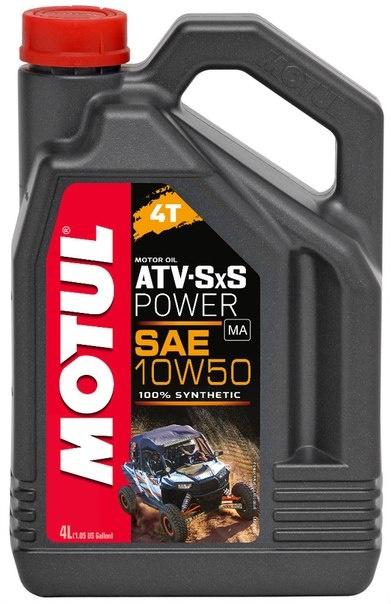 Масло моторное MOTUL ATV SXS Power 4T, 10W-50, 4л, 105901