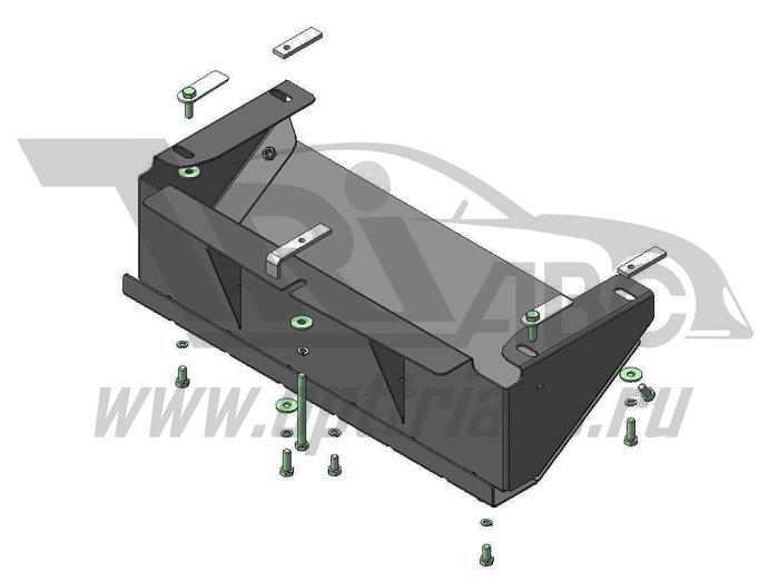 Защита стальная 3 мм_РТ_УАЗ Патриот; V=2,7;V=2,3 D с 2005 г., MOTODOR16506