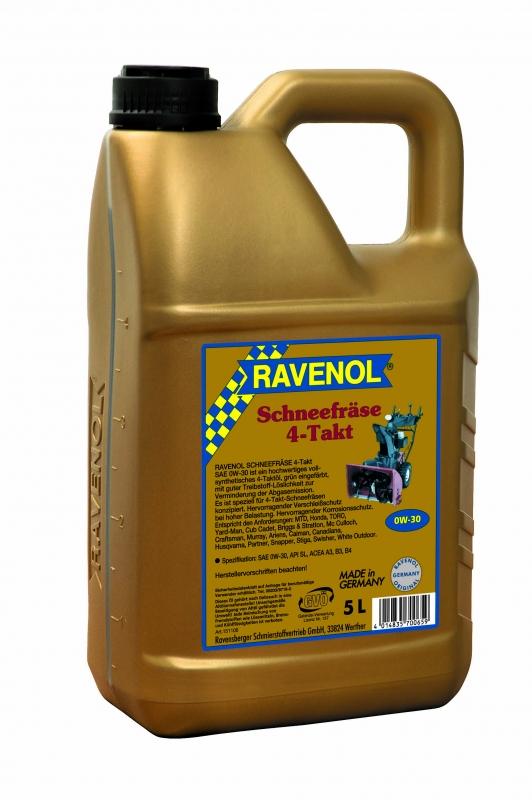 Моторное масло RAVENOL Schneefrase 4-Takt, 0W-30, 5 л, 4014835700659