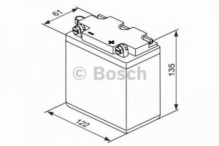 Аккумуляторная батарея Bosch Funstart FreshPack, 12 В, 12 А/ч, 80 А, 0092M4F120