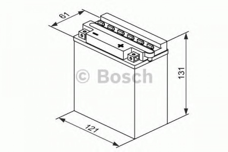 Аккумуляторная батарея Bosch Funstart FreshPack, 12 В, 5 А/ч, 30 А, 0092M4F180