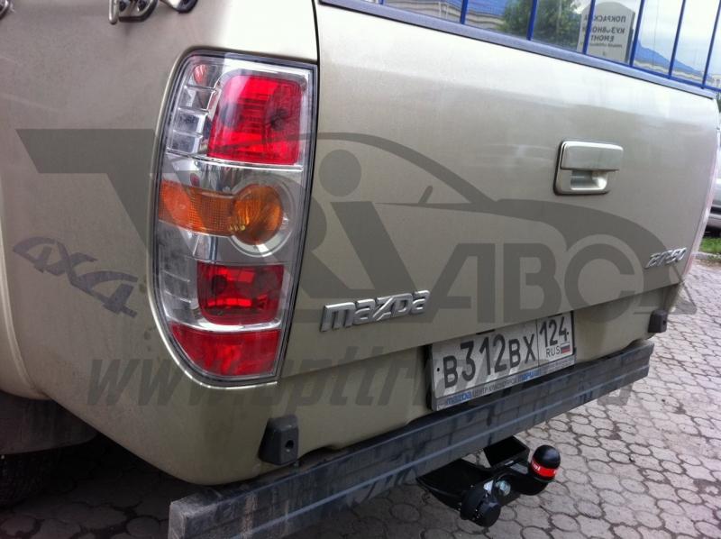 Фаркоп для Ford Ranger(07-11)/Mazda (Мазда) BT50 (2007-2012)крюк тип F ( грузоподъемность 2000 кг),