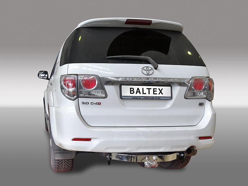Фаркоп Toyota FORTUNER 2013-, никел. крюк, нержав. накладка, без электрики, БАЛТЕКС, 24258808