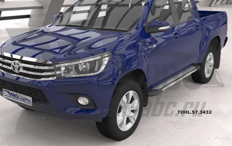 Пороги алюминиевые (Topaz) Toyota HiLux (2015-), TOHL573432