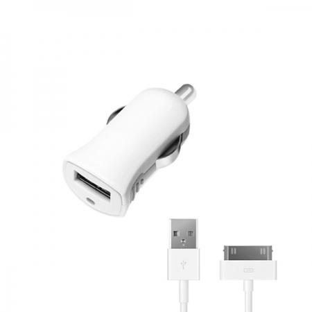 АЗУ USB 1А, дата-кабель с разъемом 30-pin для Apple (MFI), белый, Ultra, Deppa, 11252