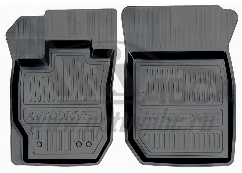 Коврики салона резиновые с бортиком для Renault Logan (2014-) (2 передних), ADRJET0252
