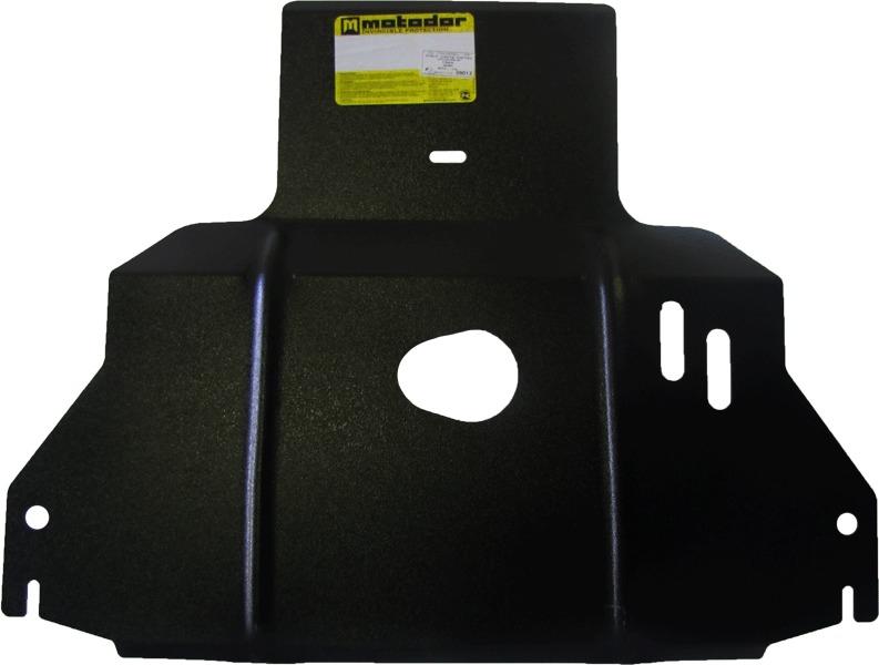 Защита картера двигателя, КПП Chery Indis S18D 2010- V=1,3i (сталь 2 мм), MOTODOR09013