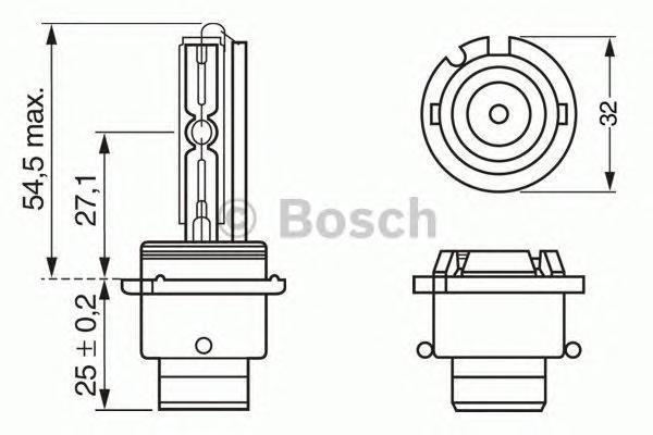 Лампа Xenon, 12 В, 35 Вт, D2R, P32d-3, BOSCH, 1 987 302 903