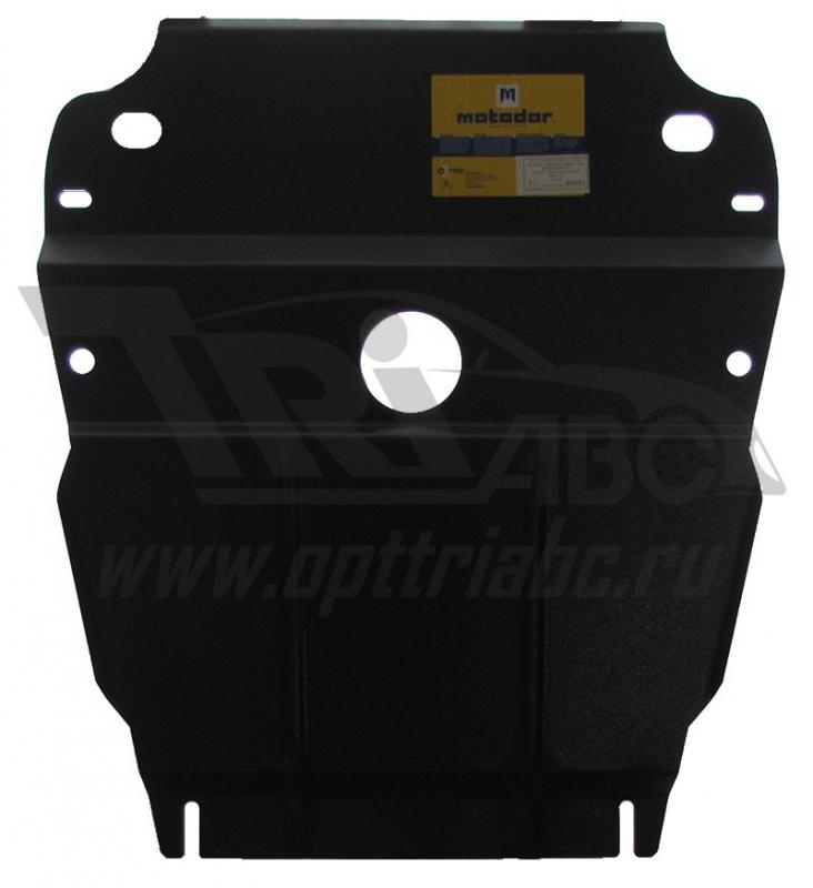 Защита картера двигателя, ПДФ, радиатора, РК Suzuki Grand Vitara III 2005- V= все, из 2-х частей (ст