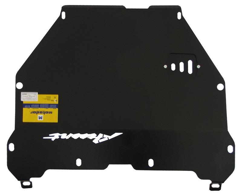 Защита картера двигателя, КПП Hyundai Accent II 1999-2006 V= все (сталь 2 мм), MOTODOR00929