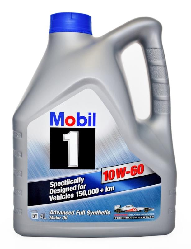 Моторное масло Mobil 1, 10W-60, 4л