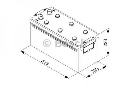 Аккумуляторная батарея Bosch T3, 12 В, 155 А/ч, 900 А, 0092T30770