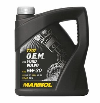 Моторное масло MANNOL 7707 O.E.M. for Ford Volvo, 5W-30, 4л, 4036021401522