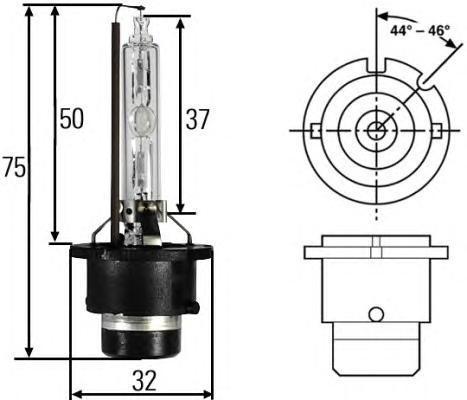 Лампа, 12 В, 35 Вт, D4S, P32d-5, HELLA, 8GS 007 949-311