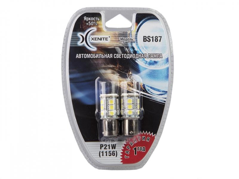 Лампа светодиодная поворотника XENITE (Яркость +50%) блистер 2шт. P21W, 1009238