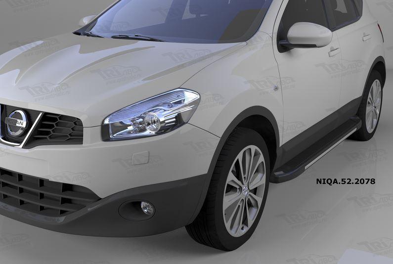Пороги алюминиевые (Onyx) Nissan Qashqai (Ниссан Кашкай) (2006-2014), NIQA522078