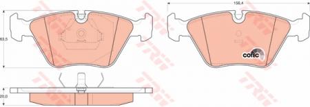 Колодки дисковые Передние, TRW, GDB916