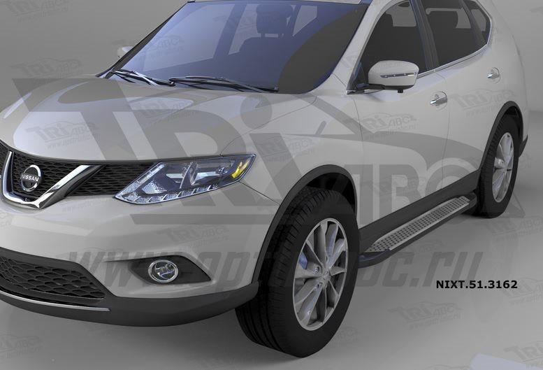 Пороги алюминиевые (Sapphire Silver) Nissan X-Trail (2014-), NIXT513162