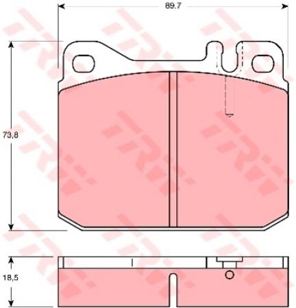 Колодки дисковые Передние, TRW, GDB1103