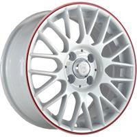 Колесный диск NZ SH668 8x18/5x114,3 D60.1 ET35 белый с красной полосой (WRS)