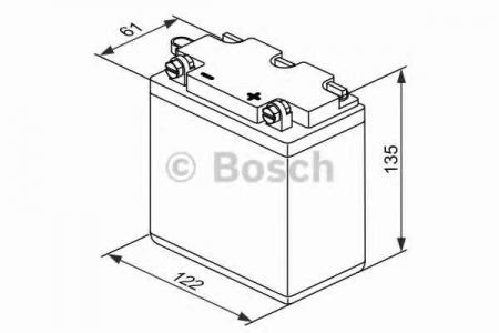 Аккумуляторная батарея Bosch, 6 В, 12 А/ч, 80 А, 018000120E