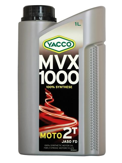 Масло для 2-тактных двигателей YACCO MVX 1000 2T синт. ,TC (1 л)