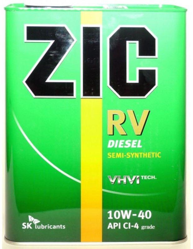 Масло моторное ZIC RV 10W-40, 4л, 163129