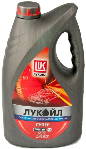 Моторное масло LUKOIL Супер, 10W-40, 4л, 19192